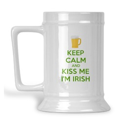Kiss Me I'm Irish Beer Stein (Personalized)