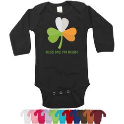 Kiss Me I'm Irish Bodysuit - Black (Personalized)
