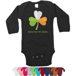 Kiss Me I'm Irish Long Sleeves Bodysuit - 12 Colors (Personalized)