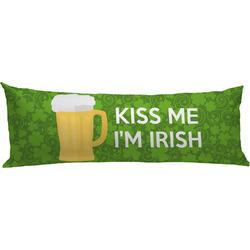 Kiss Me I'm Irish Body Pillow Case (Personalized)