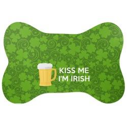 Kiss Me I'm Irish Bone Shaped Dog Food Mat (Personalized)