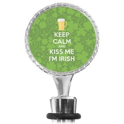 Kiss Me I'm Irish Wine Bottle Stopper (Personalized)