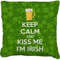 "Kiss Me I'm Irish Faux-Linen Throw Pillow 26"" (Personalized)"