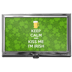 Kiss Me I'm Irish Business Card Holder