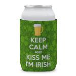 Kiss Me I'm Irish Can Sleeve (12 oz) (Personalized)