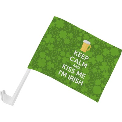 Kiss Me I'm Irish Car Flag (Personalized)