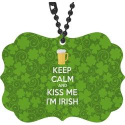 Kiss Me I'm Irish Rear View Mirror Charm (Personalized)