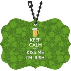 Kiss Me I'm Irish Rear View Mirror Decor (Personalized)