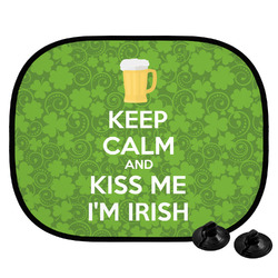 Kiss Me I'm Irish Car Side Window Sun Shade (Personalized)