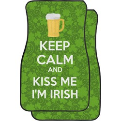 Kiss Me I'm Irish Car Floor Mats (Front Seat) (Personalized)