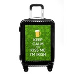 Kiss Me I'm Irish Carry On Hard Shell Suitcase (Personalized)