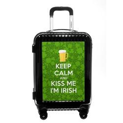 Kiss Me I'm Irish Carry On Hard Shell Suitcase (Personalized)