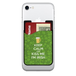 Kiss Me I'm Irish Cell Phone Credit Card Holder (Personalized)
