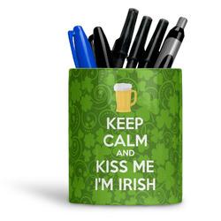 Kiss Me I'm Irish Ceramic Pen Holder