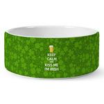 Kiss Me I'm Irish Ceramic Dog Bowl (Personalized)