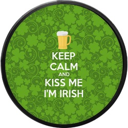 Kiss Me I'm Irish Round Trailer Hitch Cover (Personalized)