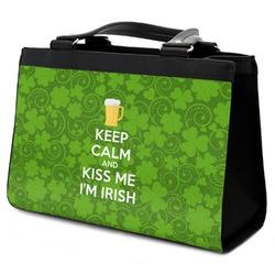 Kiss Me I'm Irish Classic Tote Purse w/ Leather Trim