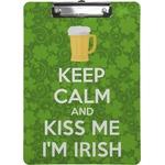 Kiss Me I'm Irish Clipboard (Personalized)
