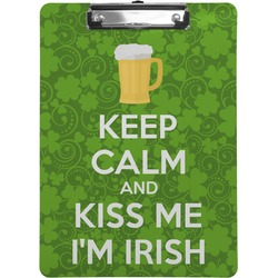 Kiss Me I'm Irish Clipboard (Personalized)