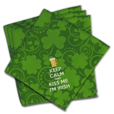 Kiss Me I'm Irish Cloth Napkins (Set of 4) (Personalized)