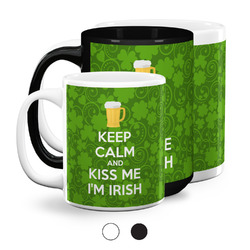 Kiss Me I'm Irish Coffee Mugs