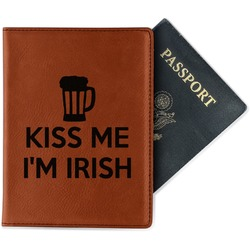 Kiss Me I'm Irish Leatherette Passport Holder (Personalized)