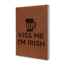 Kiss Me I'm Irish Leatherette Journal (Personalized)
