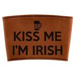 Kiss Me I'm Irish Leatherette Cup Sleeve