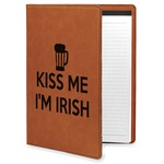 Kiss Me I'm Irish Leatherette Portfolio with Notepad (Personalized)