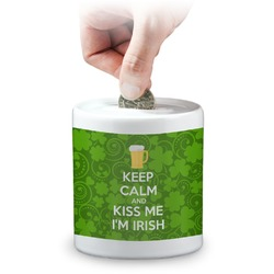 Kiss Me I'm Irish Coin Bank (Personalized)