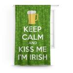 Kiss Me I'm Irish Curtain (Personalized)