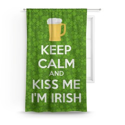 Kiss Me I'm Irish Curtain (Personalized)