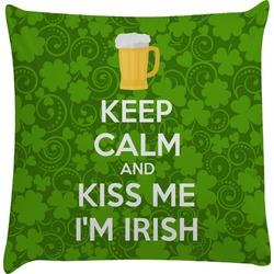 Kiss Me I'm Irish Decorative Pillow Case (Personalized)