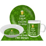 Kiss Me I'm Irish Dinner Set - 4 Pc (Personalized)