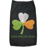 Kiss Me I'm Irish Black Pet Shirt (Personalized)