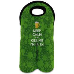 Kiss Me I'm Irish Wine Tote Bag (2 Bottles) (Personalized)