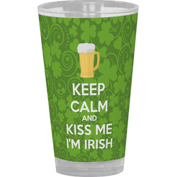 Kiss Me I'm Irish Drinking / Pint Glass (Personalized)