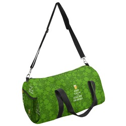 Kiss Me I'm Irish Duffel Bag (Personalized)