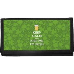 Kiss Me I'm Irish Canvas Checkbook Cover (Personalized)