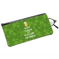 Kiss Me I'm Irish Genuine Leather Eyeglass Case (Personalized)