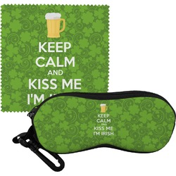 Kiss Me I'm Irish Eyeglass Case & Cloth (Personalized)
