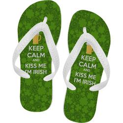 Kiss Me I'm Irish Flip Flops (Personalized)