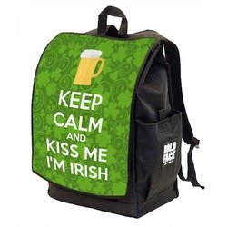 Kiss Me I'm Irish Backpack w/ Front Flap  (Personalized)