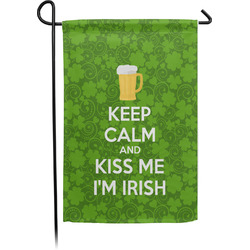 Kiss Me I'm Irish Garden Flag - Single or Double Sided (Personalized)
