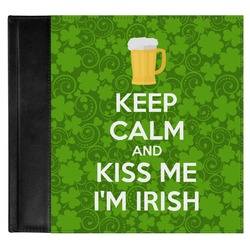 Kiss Me I'm Irish Genuine Leather Baby Memory Book (Personalized)