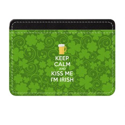 Kiss Me I'm Irish Genuine Leather Front Pocket Wallet (Personalized)