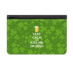 Kiss Me I'm Irish Genuine Leather ID & Card Wallet - Slim Style (Personalized)