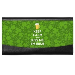 Kiss Me I'm Irish Genuine Leather Ladies Wallet (Personalized)