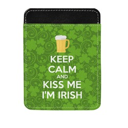 Kiss Me I'm Irish Genuine Leather Money Clip (Personalized)