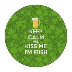 Kiss Me I'm Irish Round Desk Weight - Genuine Leather  (Personalized)